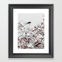 A Little Bird So Cheerfully Sings Framed Art Print