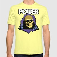 The POWER of Greyskull - He-Man Mens Fitted Tee Lemon SMALL