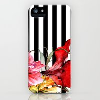 iPhone 5s & iPhone 5 Cases featuring FLORA BOTANICA | stripes by Cheryl Daniels