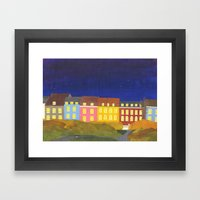 Kronissgade At Night Framed Art Print