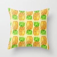 Sweet Pineapples  Throw Pillow
