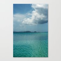Caribbean Sea View Canvas Print