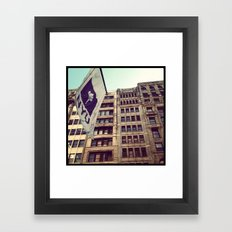 NYU Framed Art Print