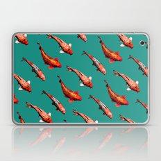 Koi in Teal Laptop & iPad Skin
