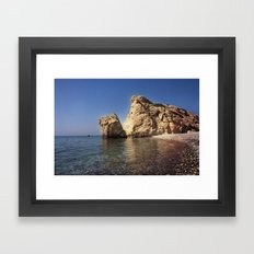 Aphrodite Beach Framed Art Print