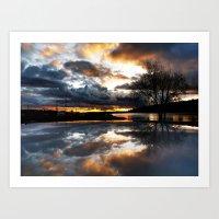 Del Mar Point Sunset Art Print