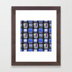 TV Pattern Framed Art Print