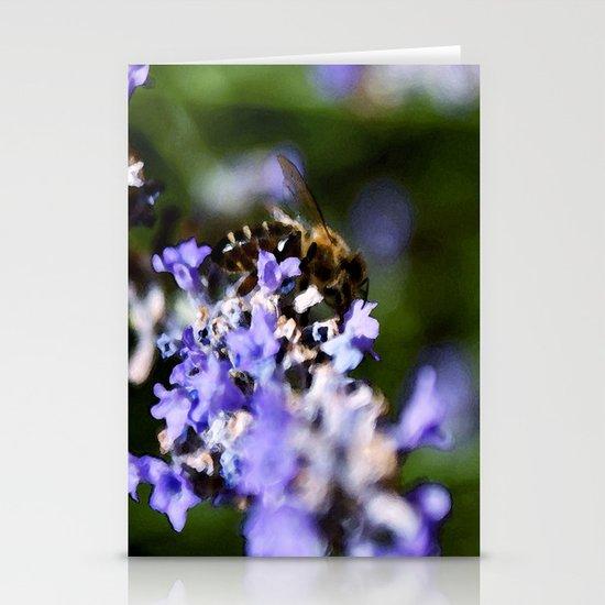 Bee on lavander Stationery Card