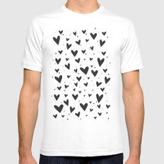 Heart Attack White SMALL Mens Fitted Tee