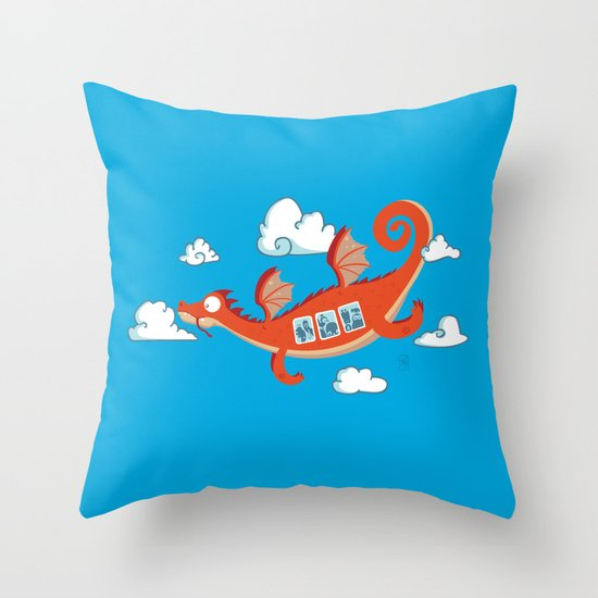 Dragonia Air Throw Pillow