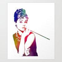 Audrey Hepburn Breakfast… Art Print