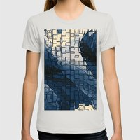 Blockage Womens Fitted Tee Silver SMALL