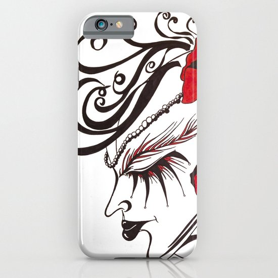 A Flowered Face iPhone & iPod Case
