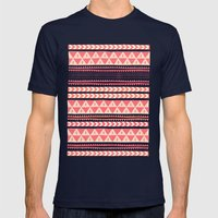 Winter Stripe II Mens Fitted Tee Navy SMALL