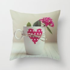 Cup full of love Throw Pillow