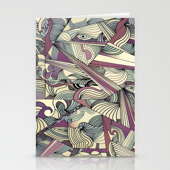 When my Mind Goes Boom. Stationery Card