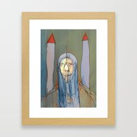 Daniel Rocket Moon Framed Art Print