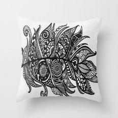 Zen Tangle Feather Throw Pillow