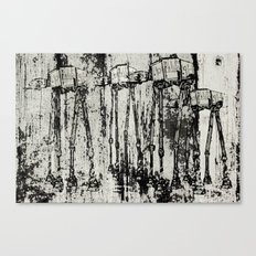 Star Wars At-At Herd by Andy Walsh Canvas Print