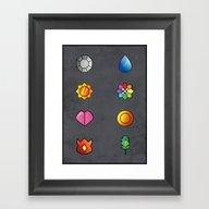 Framed Art Print featuring The Kanto Region Pokemon… by Jorden Tually Art