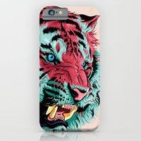 iPhone Cases featuring Tiger by Roland Banrevi