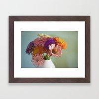 Asters Framed Art Print
