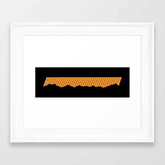 o-range Framed Art Print
