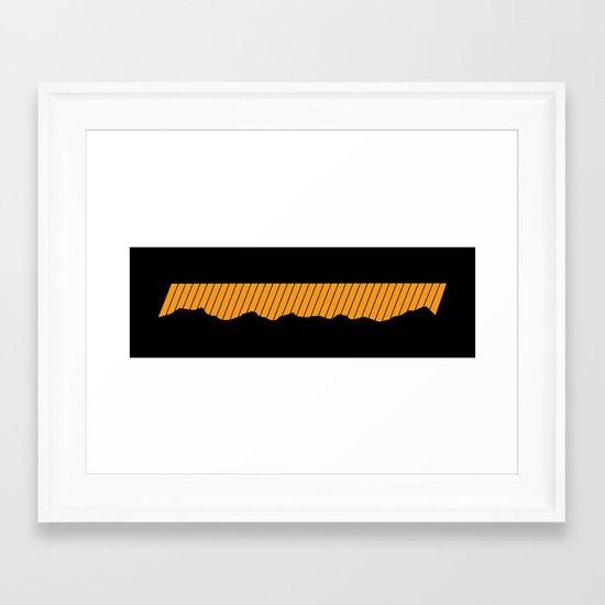 o-range Framed Art Print