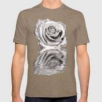 Silver Rose Mens Fitted Tee Tri-Coffee SMALL