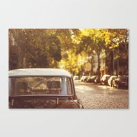 Autumn streets Canvas Print