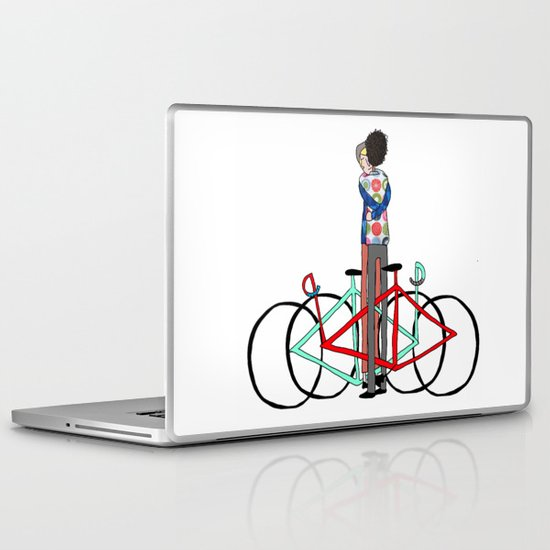 BIKE LOVE - bike hugging Laptop & iPad Skin