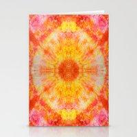 Orange Sunburst Stationery Cards
