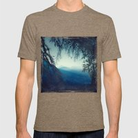 Blue Morning Mens Fitted Tee Tri-Coffee SMALL