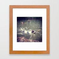 Dog in Summer Framed Art Print