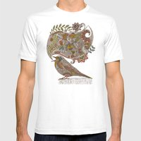 Random Talking Mens Fitted Tee White SMALL
