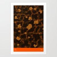 Modern Woodgrain Camoufl… Art Print