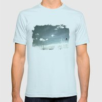 Skyred Mens Fitted Tee Light Blue SMALL