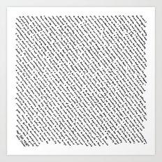 Literary Quotes Art Print