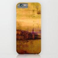 Golden Abstract Landscap… iPhone 6 Slim Case
