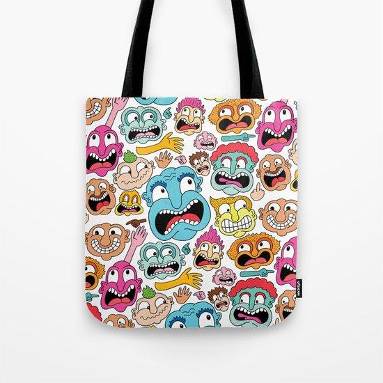 Weird Faces Tote Bag