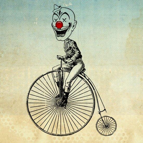 clown on a bike 02 Canvas Print