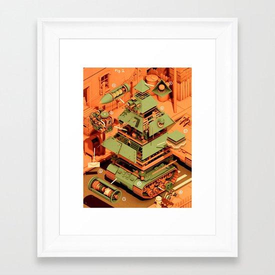 Super Tanklord Anatomy II Framed Art Print