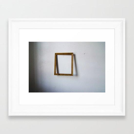 Empty Frame Framed Art Print