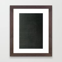 metal pattern Framed Art Print