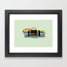 Even ideas bomb Framed Art Print
