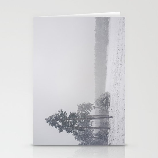 Heavy snow falling. Stationery Card
