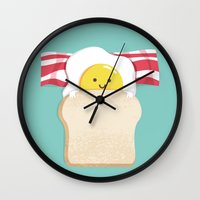Morning Breakfast Wall Clock