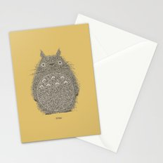 Yellow Totoro Stationery Cards