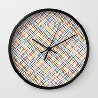 Rainbow Weave 45 Wall Clock