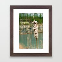 Inspiration of a cattail Framed Art Print